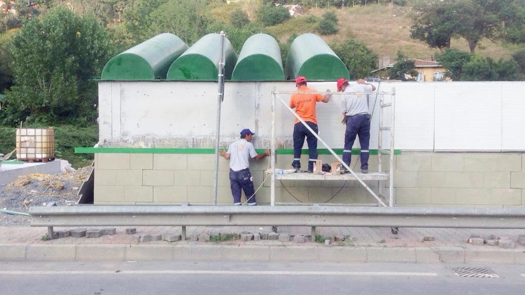 CTP Çatı ve Dekoratif Duvar Uygulaması